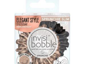 Invisibobble Sprunchie Slim True Golden, Χρυσό Μαύρο 2 Τεμάχια