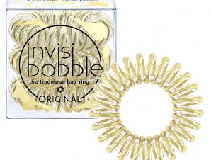 Invisibobble Original Time To Shine You're Golden Λαστιχάκι Μαλλιών 3 Τεμάχια