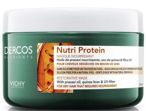Vichy Dercos Nutrients Nutri Protein Masque Θρεπτική Μάσκα Αναδόμησης για Ξηρά Ταλαιπωρημένα Μαλλιά 250ml