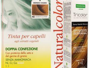 Specchiasol Πακέτο Προσφοράς Homocrin Natural Color N8 Φυτική Βαφή Μαλλιών Ανοιχτό Ξανθό & Δώρο Homocrin Tricolor Spray 75ml