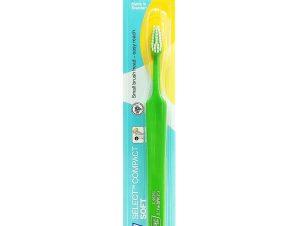 TePe Select Compact Soft Οδοντόβουρτσα Μαλακή για Αποτελεσματικό Καθαρισμό 1 Τεμάχιο – πράσινο