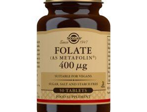 Solgar Folate 400mcg (as Metafolin) Φολικό Οξύ 50 Tablets