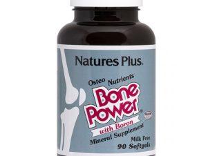 Nature's Plus Bone Power Συμπλήρωμα Διατροφής, Ειδική Φόρμουλα για την Υγεία των Οστών 90 softgels