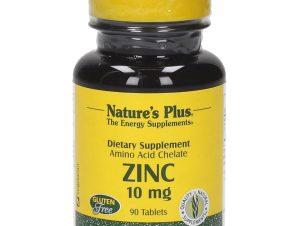 Nature's Plus Zinc 10mg Συμπλήρωμα Διατροφής με Ψευδάργυρο 90 tabs
