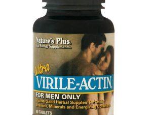 Nature's Plus Ultra Virile-Actin Συμπλήρωμα Διατροφής για Τόνωση του Ανδρικού Οργανισμού & Ενίσχυση της Ερωτικής Διάθεσης 60Tabs