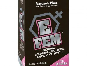 Nature's Plus E-Fem Συμπλήρωμα Διατροφής, Ιδανικό για την Διατήρηση της Υγείας του Γυναικείου Οργανισμού 60caps