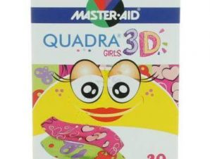 Master Aid Quadra 3D Αυτοκόλλητα Επιθέματα για Παιδιά 20Τεμάχια – Ροζ/Κορίτσια