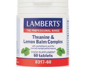 Lamberts Theanine & Lemon Balm Complex Συμπλήρωμα Διατροφής για Περιόδους Στρες και Άγχους 60tbs
