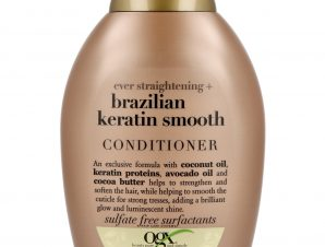 OGX Brazilian Keratin Smooth Conditioner Ever Straightening Μαλακτική Κρέμα Λείανσης & Λάμψης στα Ταλαιπωρημένα Μαλλιά 385ml