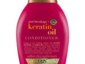 OGX Keratin Oil Conditioner Strength & Length Μαλακτική Κρέμα Ενδυνάμωσης των Μαλλιών με Κερατίνη & Έλαιο Argan 385ml