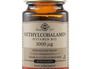 Solgar Methylcobalamin (Vitamin B12) 1000mcg ,Συμπλήρωμα Διατροφής για την Καλή Λειτουργία του Νευρικού Συστήματος 30nuggets