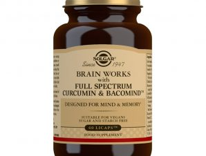 Solgar Brain Works with Full Spectrum Curcumin & Bacomind Συμπλήρωμα Διατροφής που Βοηθά Εγκέφαλο & Μνήμη 60Licaps