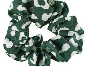 Medisei Dalee Hair Πράσινο Εμπριμέ Λαστιχάκι Μαλλιών Από Μαλακό Ύφασμα 1 Τεμάχιο