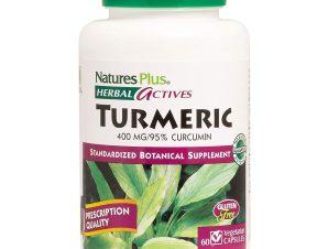Nature's Plus Turmeric 400mg Αντιοξειδωτικό Συμπλήρωμα από Κουρκουμά 60 vcaps