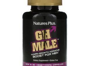 Nature's Plus GH Male Boost for Men Συμπλήρωμα Διατροφής για τη Φυσική Διέγερση της Ενδογενούς Αυξητικής Ορμόνης 60 Veg Caps