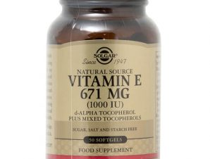 Solgar Vitamin E Συμπλήρωμα Διατροφής Φυσικής Πηγής Βιταμίνη Ε Πλούσια σε Αντιοξειδωτικά Natural softgels – 671mg 1000iu 50s