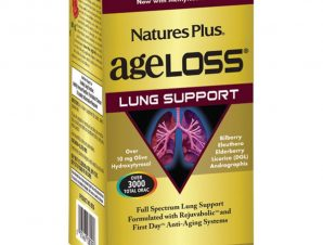 Nature's Plus Ageloss Lung Support Συμπλήρωμα Διατροφής για την Υποστήριξη των Πνευμόνων 90 Κάψουλες