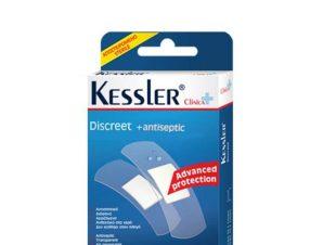 Kessler Discreet Antiseptic Αυτοκόλλητα, Αδιάβροχα, Διάφανα Επιθέματα 20strips