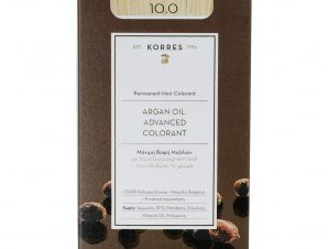 Korres Argan Oil Advanced Colorant Μόνιμη Βαφή Μαλλιών με Τεχνολογία Pigment-Lock που Κλειδώνει το Χρώμα 50ml – 10.0 ΞΑΝΘΟ ΠΛΑΤΙΝΑΣ ΦΥΣΙΚΟ