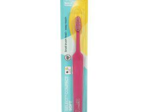 TePe Select Compact Soft Οδοντόβουρτσα Μαλακή για Αποτελεσματικό Καθαρισμό 1 Τεμάχιο – φούξια
