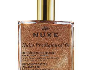 NUXE Huile Prodigieuse OR – Ξηρό Λάδι Ενυδάτωσης και Λάμψης για Πρόσωπο-Σώμα-Μαλλιά με Χρυσαφένια Λάμψη 50ml