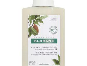 Klorane Shampoo With Cupuacu Butter Σαμπουάν για Πολύ Ξηρά Μαλλιά Με Βούτυρο Κουπουασού 200ml