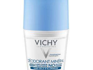 Vichy Deodorant Mineral Roll On Αποσμητικό Μέγιστη Ανοχή, Φρεσκάδα και Ενυδάτωση για Ευαίσθητη ή Αποτριχωμένη Επιδερμίδα 50ml