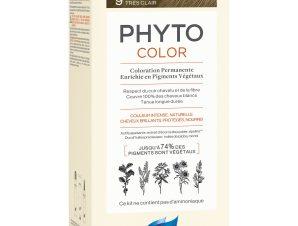Phyto PhytoColor Coloration Permanente η No1 Μόνιμη Βαφή Μαλλιών Χωρίς Χρωστικές Ουσίες & Αμμωνία – 9 Ξανθό Πολύ Ανοιχτό