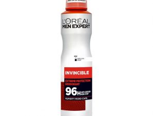 L'oreal Paris Men Expert Invincible Spray Ανδρικό Αποσμητικό Spray με 96ωρη Πολύ Υψηλή Προστασία Ενάντια στον Ιδρώτα 150ml