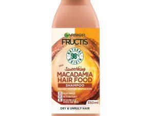 Garnier Fructis Hair Food Smoothes Shampoo Macadamia Θρεπτικό Σαμπουάν με Macadamia για Ξηρά Μαλλιά & Ατίθασα Μαλλιά 350ml