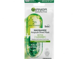 Garnier SkinActive Ampoules Detox Sheet Mask Υφασμάτινη Μάσκα Προσώπου με Niacinamide & Kale για Detox Ενυδάτωση 1 Τεμάχιο