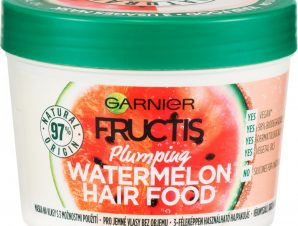 Garnier Fructis Hair Food Plumping Mask with Watermelon Μάσκα Μαλλιών 3 σε 1 με Καρπούζι που Χαρίζει Όγκο σε Λεπτά Μαλλιά 390ml