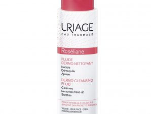 Uriage Eau Thermale Roseliane Dermo Cleansing Fluid Προσφέρει Αμέσως στο Δέρμα Βαθύ Καθαρισμό Φρεσκάδα και Αίσθηση Ευεξίας 250ml