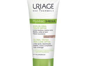 Uriage Eau Thermale Hyseac 3-Regul Spf30 Global Tinted Skincare Ολοκληρωμένη Περιποίηση με Χρώμα για Επιδερμίδες με Ατέλειες 40m
