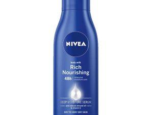 Nivea Body Nourishing Milk Θρεπτικό Γαλάκτωμα Σώματος 48ωρης Βαθιάς Ενυδάτωσης & Απαλότητας 250ml