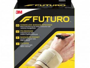 Futuro Wrap Around Wrist Support 46709 One Size Περικάρπιο Κατασκευασμένο Από Συμπιεστικό Ύφασμα 1 Τεμάχιο