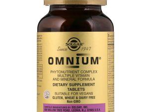 Solgar Omnium Πρωτοποριακή Προηγμένη Φόρμουλα Πολλαπλής Διατροφικής Αξίας – 30 tabs
