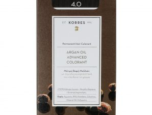 Korres Argan Oil Advanced Colorant Μόνιμη Βαφή Μαλλιών με Τεχνολογία Pigment-Lock που Κλειδώνει το Χρώμα 50ml – 4.0 ΚΑΣΤΑΝΟ ΦΥΣΙΚΟ