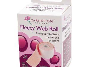 Vican Carnation Fleecy Web Roll Προστατευτικό Αυτοκόλλητο Επίθεμα Ποδιών σε Ρολό (7,5cm x 75cm) 1 Τεμάχιο