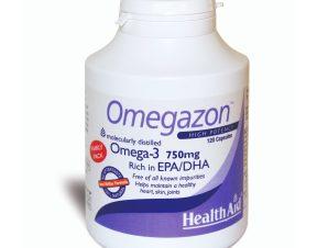 Health Aid Omegazon 750Mg -Family Pack Νορβηγικά Ιχθυέλαια Διπλής Μοριακής Απόσταξης 120Caps
