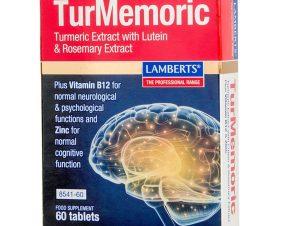 Lamberts Turmemoric with Turmeric Extract with Lutein Συμπλήρωμα Διατροφής για Φυσιολογική Γνωστική Λειτουργία 90tabs