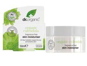 Dr Organic Organic Calendula Fragrance Free Skin Moisturiser Cream Ενυδατική Κρέμα Προσώπου με Καλέντουλα 50ml