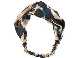 Medisei Dalee Hair Ties Πράσινη Λεοπάρ Κορδέλα Μαλλιών 1 Τεμάχιο