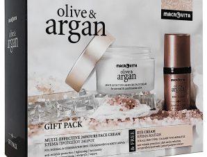 Macrovita Gift Pack Olive & Argan Multi-effective 24Hours Face Cream Normal-Combination 50ml & Δώρο Eye Cream 15ml