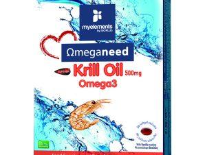 MyElements Krill Omega3 Ιχθυέλαιο Πλούσιο Σε Ωμέγα-3 Λιπαρά Οξέα – 30 caps