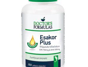 Doctor's Formulas Esakor Plus Συμπλήρωμα Διατροφής με Λιπαρά Οξέα για τη Φυσιολογική Λειτουργία του Εγκεφάλου 180Soft.Caps