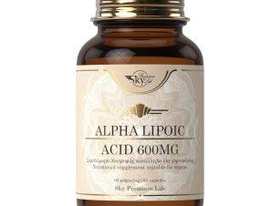 Sky Premium Life Alpha Lipoic Acid 600mg Συμπλήρωμα Διατροφής με Α-Λιποϊκό Οξύ για Αντιοξειδωτική Δράση 60caps