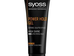 Syoss Men Power Hold Sculpting Gel Επαγγελματικό Gel Μαλλιών για Άνδρες, Extra Δυνατό Κράτημα & Styling Μεγάλης Διάρκειας 250ml