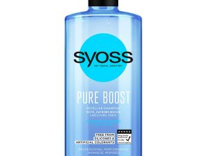 Syoss Micellar Shampoo Pure Boost Επαγγελματικό Σαμπουάν, Ζωντάνια & Κίνηση στα Αδύναμα & Λεπτά Μαλλιά 440ml