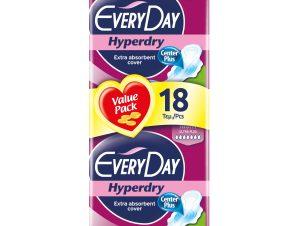 Every Day Hyperdry Maxi Night Value Pack Πολύ Λεπτές Σερβιέτες Έξτρα Απορροφητικές, Ιδανικές για τη Νύχτα 18 Τεμάχια